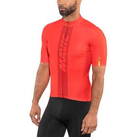 Mavic Cosmic Kortærmet cykeltrøje Herrer, fiery red